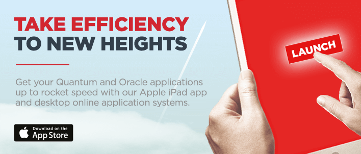 Get your Quantum and Oracle applications up to rocket speed with our Apple iPad app and desktop online application systems. Visit rl360app.com (opens in new tab).
